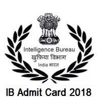 Intelligence Bureau Admit Card