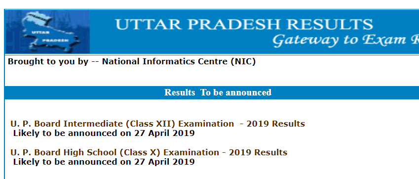 UP board 10th result 2019 announced at upresults nic in