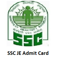 SSC JE Admit Card