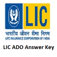 LIC ADO Answer Key