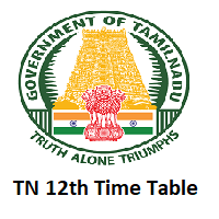 Tamil Nadu 12th Time Table 2020 Check TN 12th Public Exams