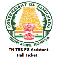 TN TRB PG Assistant Hall Ticket
