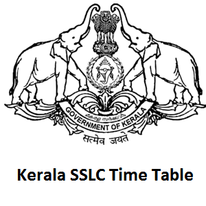 Kerala SSLC Time Table