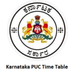 Karnataka PUC Time Table