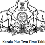 Kerala Plus Two Time Table