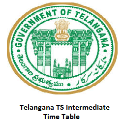 Telangana TS Intermediate Time Table