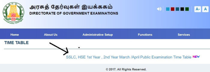 Tamilnadu 10th time table step1